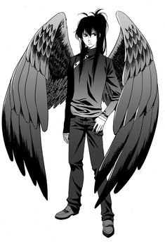Character design for Fang, of the Maximum Ride manga series.