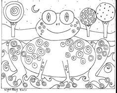 RUG HOOK PAPER PATTERN Night Frog FOLK ART ABSTRACT MODERN - Karla G | eBay