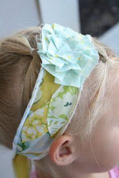 scrap fabric headband