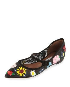d83af289bc7d Hermione Meadow Mary Jane Flat Black