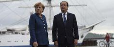 François Hollande et Agela Merkel haussent le ton et menacent de sanctionner la Russie si l'élection présidentielle en Ukraine ne se tient pas comme prévu. 0Osvaldo_Villar Via HuffPost