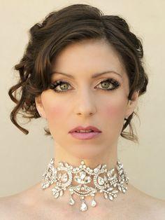 Dramatic Rhinestone Bridal Choker ~ Samiya