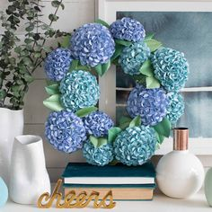 How To Make A Paper Hydrangea Wreath