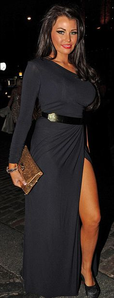 TOWIE's Jessica Wright in Gorgeous Couture's Gilly Maxi Dress £194
