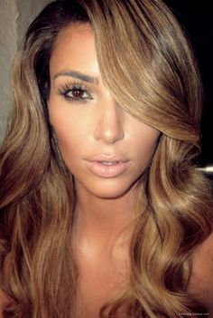 Kim kardashian hair colour.
