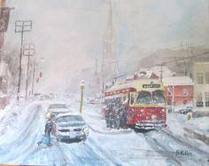 Canadian Art, Snow Scenes, Car Painting, Ontario, Toronto, Canada, Tgif, Street, Ice