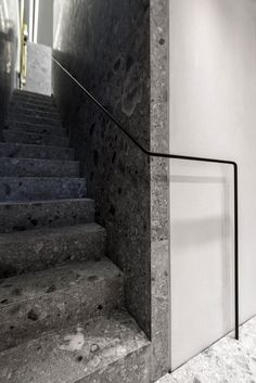 | DETAILS | when singular material selections are used to create a focused transition space between floor levels