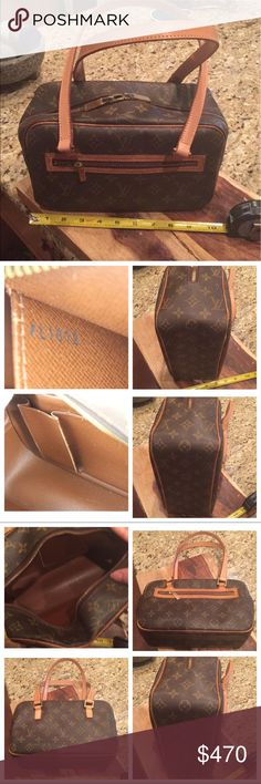 Louis Vuitton Cite MM shoulder bag Louis Vuitton Cite MM. I have had the shoulder straps repaired at my expense by a Texas Saddle Shop, they made new leather straps. The bag is in great shape.  The repairs were expensive.  L 10 inches, H 6 inches, and W 4 inches.  No trades! No low balls!  Date Code:  FL1012. Louis Vuitton Bags Shoulder Bags
