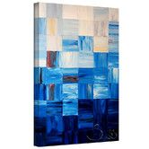 "Found it at Wayfair - ""Bluesquares"" by Shiela Gosselin Gallery-Wrapped on Canvas"