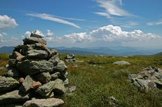 Looking out over the Presidential Range - White Mountains, NH