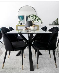 The Perfect Pair ... our Spider Glass Dining Table and Black Tulip Dining Chairs Glass Dining Table, Fine Dining, Dining Chairs, Black Tulips, Furniture Showroom, Brushed Stainless Steel, Spider, Colours, Home Decor