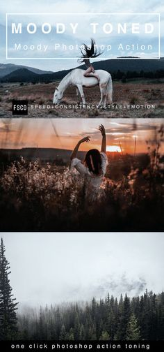 Toned Moody Photoshop Actions for Modern by FilterSupplyCo on Etsy