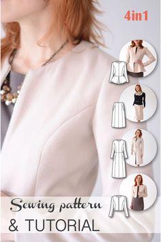 Sewing Patterns - Coat Patterns - Jacket Patterns - Bolero Pattern - Skirt…