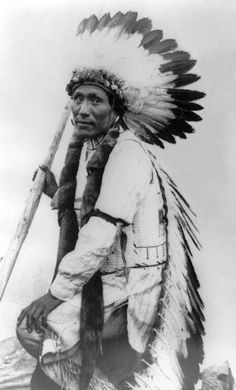 An old photograph of Paul Bear Robe - Oglala c1910.