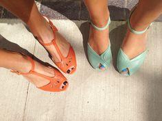 summer styles, orang, dress, vintage outfits, vintage shoes, vintag shoe