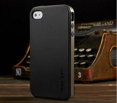 For iphone 4 4G 4S Bumblebee SPIGEN SGP Case NEO Hybrid Series Hard Phone Cover Black and Brown