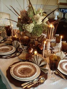 10 Beautiful Fall Tablescapes | Camp and Cottage Living