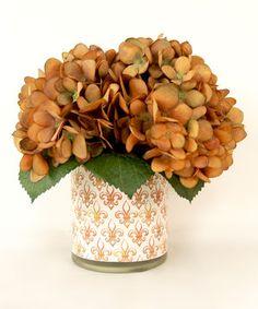 Look at this #zulilyfind! Rust Hydrangea Fleur-de-Lis Arrangement by Creative Displays #zulilyfinds