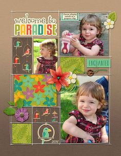 Welcome to Paradise//Tropical Serenade Collection, Scotty Girl Design, The Digital Press//Sewn Pockets Template, Valorie Wibbens, The Lilypad