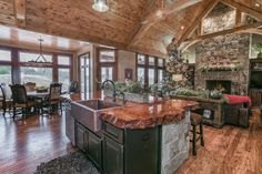 123 Anywhere St, Augusta KS 67010, USA Love the redwood countertop and contrasting cabinets!!!