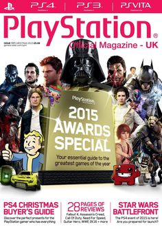 Official PlayStation Magazine 117. Discover the perfect presents for the PlayStation gamer who has everything. 28 pages of reviews: Fallout 4, Assassin's Creed, Call Of Duty, Need For Speed, Guitar Hero, WWE 2K16 + more. Star Wars Battlefront.