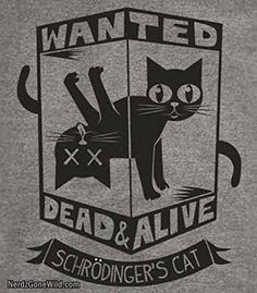 Schrodingers Cat T-Shirt-Funny Wanted Dead or Alive shirt
