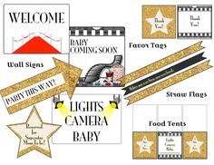 A Star is Born Baby Shower Party Printable Package by InstaThemes