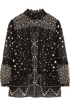 Anna Sui Printed silk-chiffon blouse | NET-A-PORTER