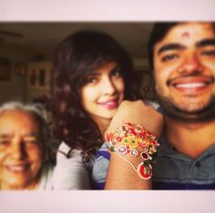 Bollywood actress Priyanka Chopra, who says no matter wherever she is in the world, she makes sure that she is with her brother Sidharth on Raksha bandhan. #FashionJewelleryOnline #SilverJewelleryIndia
