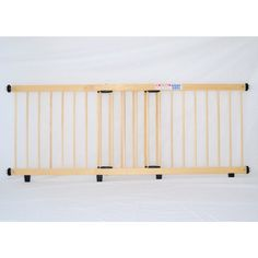 Step-Over Baby Safety Gate Natural Timber 110-200cm | Buy Baby Safety