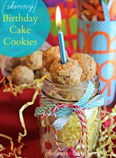 Skinny Birthday Cake Cookies