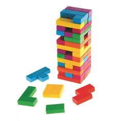 Tetris Jenga? This is awesome for the kids and super colorful.