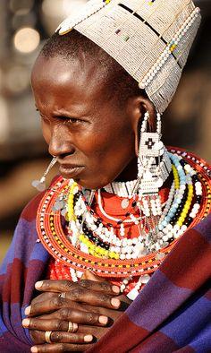 Africa | Maasai woman. Ngorongoro National Park, Tanzania | © Ricky aka Rikko77 on Flickr