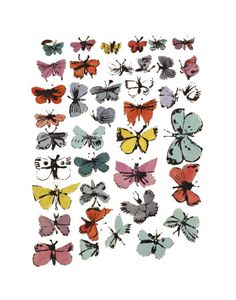 Butterflies print by Andy Warhol - think I'd like the 11x14 size, then get a target frame $10