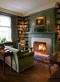 My living room wall with a cozy fireplace, books and a comfortable couch … – cozy home comfy Living Room Designs, Living Room Decor, Living Spaces, Dining Room, Cozy Living Room Warm, Cozy Room, Cozy Fireplace, Fireplace Ideas, Library Fireplace