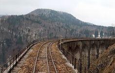 Viaduc de l'Evalude - La ligne des Hirondelles - Morez, Jura, Franche-Comté, France.