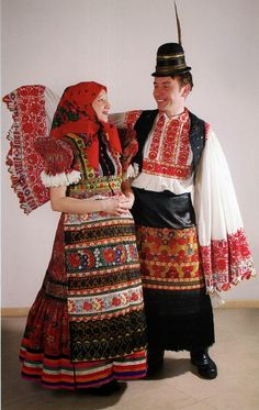 The most famous Matyó costume and embroidery traditions in Hungary, Mezőkövesd Historical Costume, Historical Clothing, Folklore, Folk Costume, Costumes, Art Populaire, Folk Clothing, Hungarian Embroidery, Folk Dance
