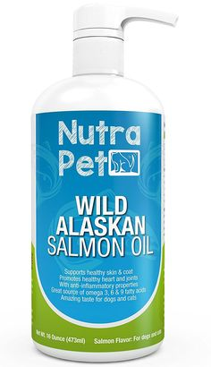 Pure Omega-3 Rich Fish Oil for Dogs and Cats - Shiny Coat Guaranteed! - Best Source of DPA/DHA Omega 3, 6 and 9 Fatty Acids from Wild Caught Salmon that Promotes Healthy Skin, Coat, Joints and Heart ** Check this awesome image  : Cat Supplies