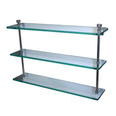 Shop Allied Brass Mfg.  Prestige Regal Triple Glass Bathroom Shelf at ATG Stores. Browse our bathroom shelves, all with free shipping and best price guaranteed.