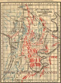 Battle map of Chickamauga, Georgia.