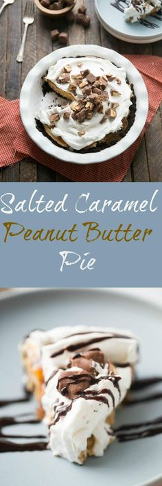 Peanut butter pie is always a favorite but when you add caramel and chocolate candies, you have an unforgettable pie that will become your most requested dessert! via @Lemonsforlulu