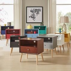 Shop for Marin Danish Modern 1-drawer Storage Accent Side Table iNSPIRE Q Modern. Get free shipping at Overstock.com - Your Online Furniture Outlet Store! Get 5% in rewards with Club O! - 19400084