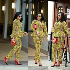 #ankaratasticasoebiafrica ❤ @chicamastyle  @_divabby_ two piece studded Ankara  Outfit @_divabby_