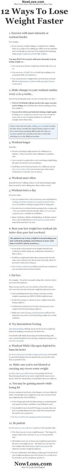 12 ways to lose weight faster or how to break out of a weight loss plateau by AislingH