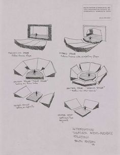 The Tyrone Guthrie Theater Acoustic Architecture, Auditorium Architecture, Theater Architecture, Auditorium Design, Architecture Drawings, Theatre Design, Stage Design, Spectacle Theatre, Theater Plan