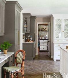 Kitchen cabinetry + bistro chair #design #interiordesign