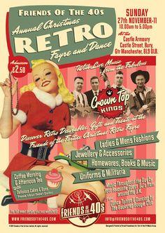 Friends of the 40s Christmas Retro Fair 2011, Digital & Print Promotion