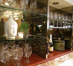 Glass shelving & styling - ATELIER BEA