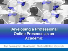 Developing a professional online presence as an academic