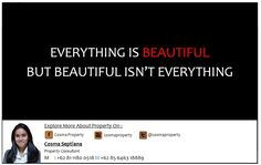 Everything Is Beautiful, But Beautiful Isn't Everything